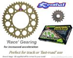 RACE GEARING: Renthal Sprockets and GOLD Renthal SRS Chain - Aprilia Tuono (2006-2011)